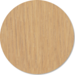 Natural Oak, with protective varnish