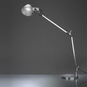 Artemide tolomeo-led table lamp aluminum grey