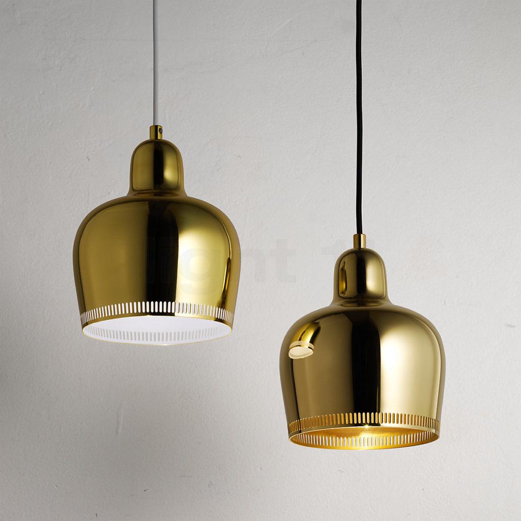 Artek_Golden_Bell in brass_A330S_Pendant_Light--Designed by Alvar Aalto