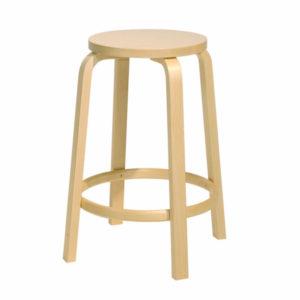 stool-64-artek-Birch designed by Alvar Aalto
